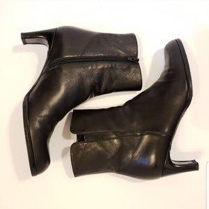 Stuart Weitzman Shoes - Stuart Weitzman   black leather heeled booties